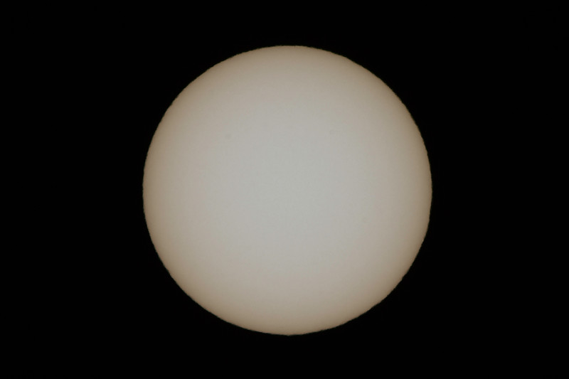 Sun, no Sunspots - 2/12/2017 (Single processed Image)