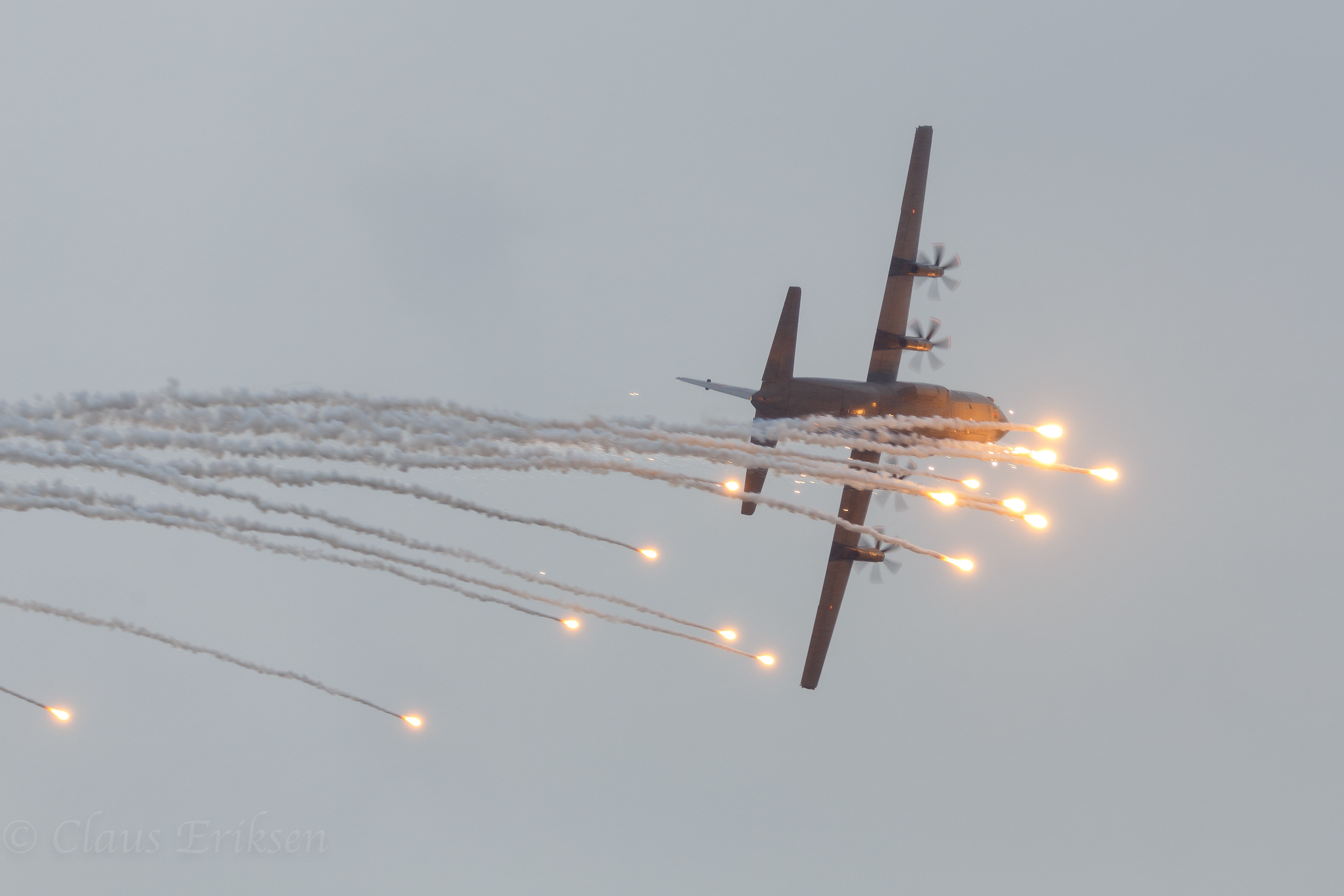 RDAF C-130J with flares