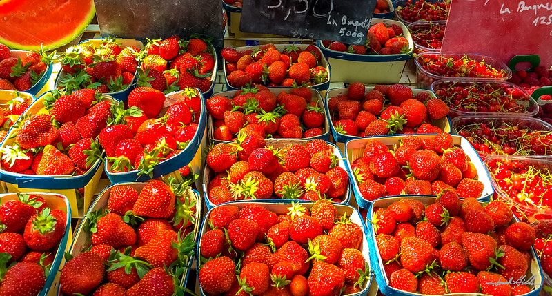 Market fresh strawberries