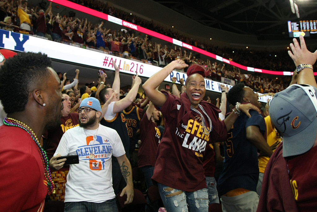 . The Cleveland Cavaliers head to Indianapolis to play the Pacers in Games 3 and 4 in the first round of the NBA playoffs, but fans can still head to Quicken Loans Arena to cheer on the Wine & Gold. Taking place on days of road playoff games, watch parties are inside The Q. Fans watch game action on the arena�s �Humongotron� video board. Other game-like experiences are part of the total package, including food and beverages. Watch parties are scheduled for Game 3 on April 20 (7 p.m.) and Game 4 on April 22 (8:30 p.m.). Watch party admission is $5 for the first round. All proceeds are donated toSay Yes to EducationandGreater Cleveland Habitat for Humanity. Tickets are available atwww.cavs.com, the arena box office and at area Discount Drug Mart stores. The doors open 90 minutes before tipoff. (Michael Johnson - The News-Herald)