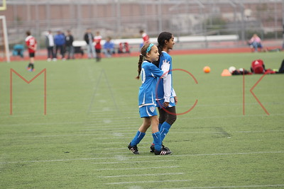 Brooklyn - May 22: Girls compete at Brooklyn Italians Soccer Academy practice at John Dewey High School on Sunday, May 22, 2011 in Brooklyn, NY.