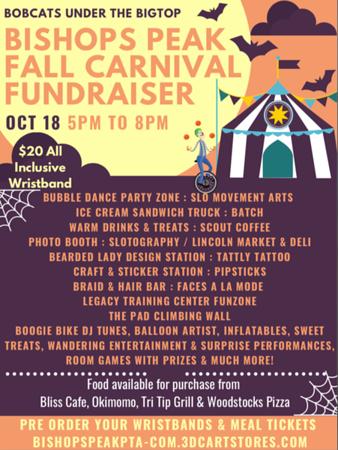 Bishops Peak Fall Carnival Fund Raiser