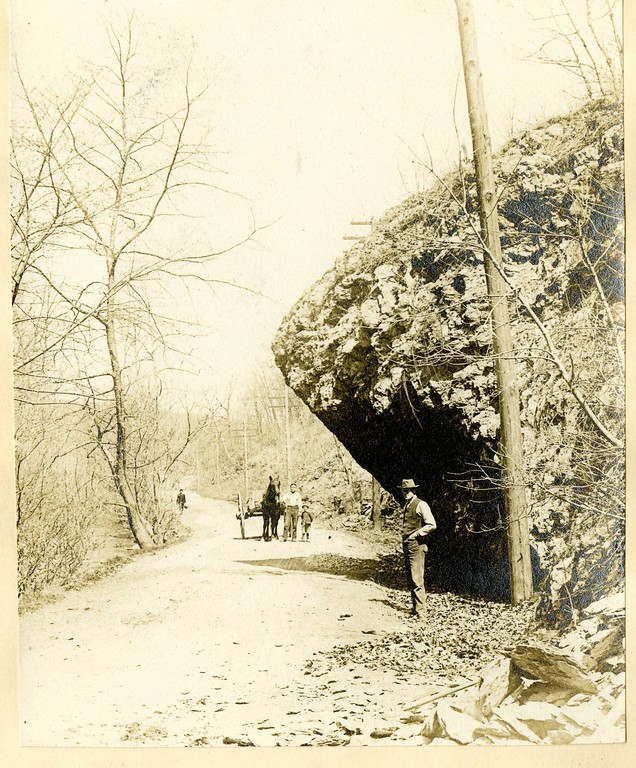 . This photo from the Historical Society of Montgomery County shows Route 320 and Gulph Road in Upper Merion during the late 19th or early 20th century.