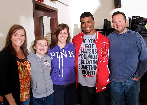 Caleb, Chad, David and Nick's grad party