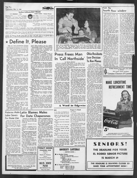 Daily Trojan, Vol. 39, No. 91, March 03, 1948