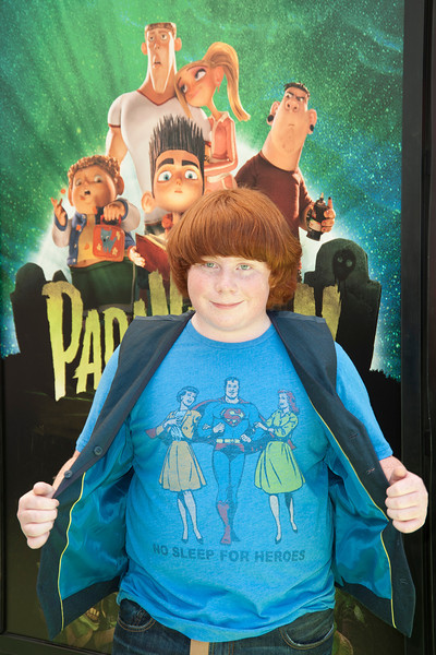 UNIVERSAL CITY, CA - AUGUST 05: Actor Tucker Albrizzi arrives to the premiere of Focus Features' 'ParaNorman' at Universal CityWalk on Sunday, August 5, 2012 in Universal City, California. (Photo by Tom Sorensen/Moovieboy Pictures)