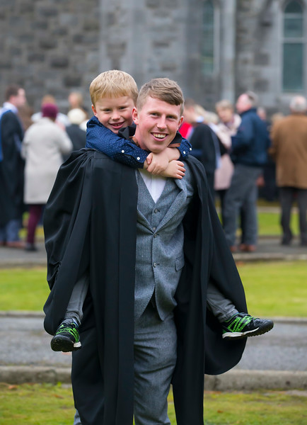 02/11/2018. Waterford Institute of Technology (WIT) Conferring Ceremonies 2018. Pictured are Aaron O'Reilly from Westmeath with his brother Peadar. Picture: Patrick Browne