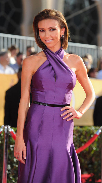 . Giuliana Rancic arrives at the 20th Annual Screen Actors Guild Awards  at the Shrine Auditorium in Los Angeles, California on Saturday January 18, 2014 (Photo by Michael Owen Baker / Los Angeles Daily News)