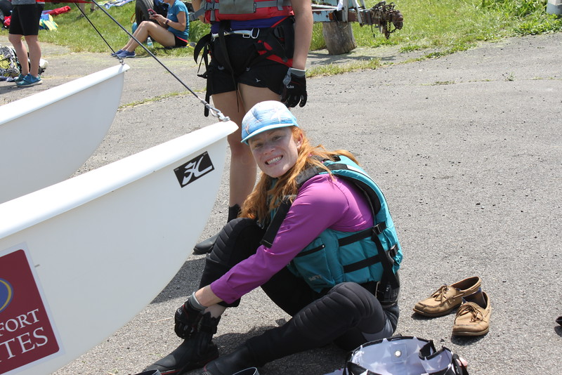 Rear Commodore Therese Straigi getting ready to go on the water