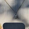 1.63ctw Edwardian Diamond Pave Heart Pendant 9
