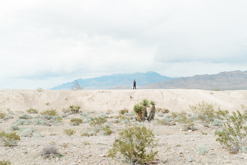first look in the Las Vegas desert // Las Vegas Elopement & Intimate Wedding Photographer - Kristen Krehbiel - Kristen Kay Photography