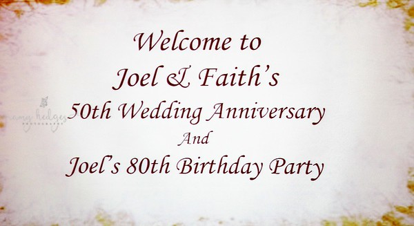 Joel & Faith 50th