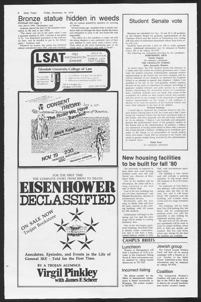 Daily Trojan, Vol. 87, No. 44, November 16, 1979
