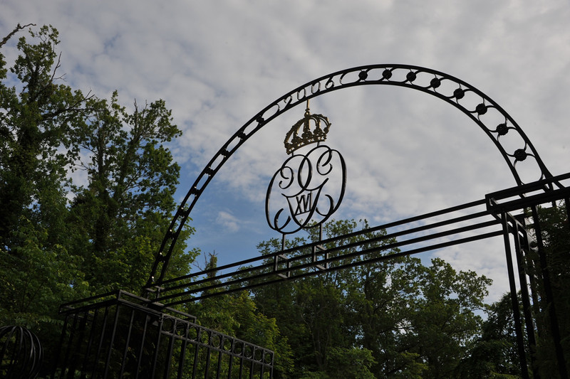 In the island of Öland, Sweden, in the Baltic sea. The Swedish Royal Family has its Summer mansion here, Solliden (1906).  Solliden was built by Queen Sophia Maria Victoria av Baden (1862-1930).  Monogram of the King Carl XVI Gustav (1946-)[1973-] at the entrance.