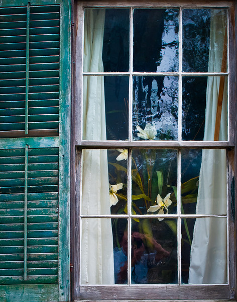 "'Windows of St Augustine -3' Old Town,  St Augustine, FL  An Open Edition Matted 16""x 20""  Luster  paper (12mil)  ©2010 R. Gallet"