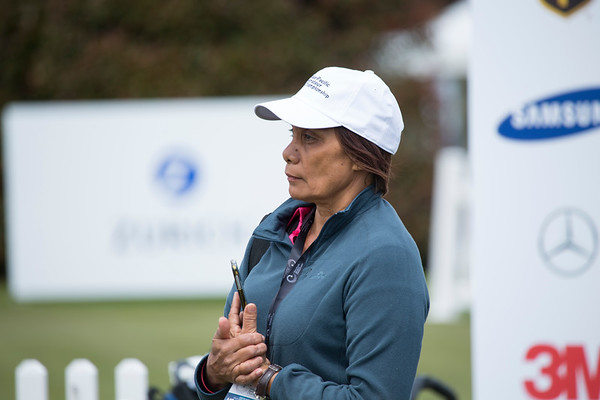 Golf fan on the 1st tee on the 2nd day of competition  in the Asia-Pacific Amateur Championship tournament 2017 held at Royal Wellington Golf Club, in Heretaunga, Upper Hutt, New Zealand from 26 - 29 October 2017. Copyright John Mathews 2017.   www.megasportmedia.co.nz