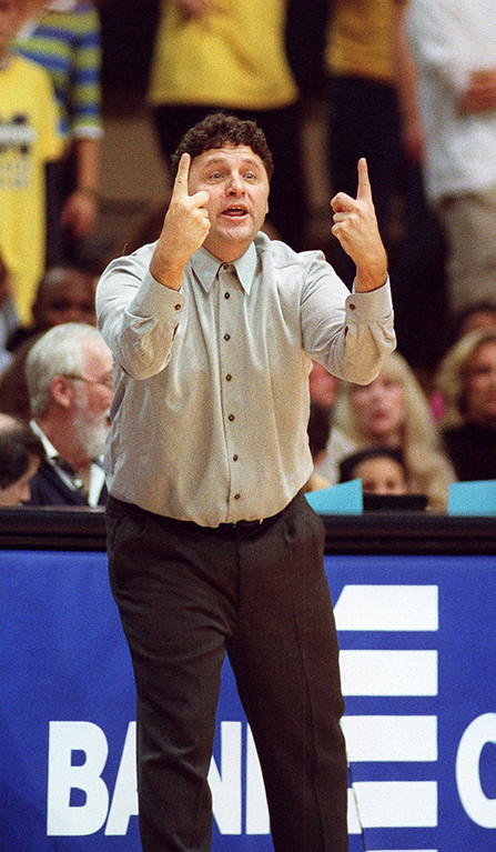 . File art from the Oakland University vs Michigan game 11-16-01. Oakland University head basketball coach Greg Kampe.