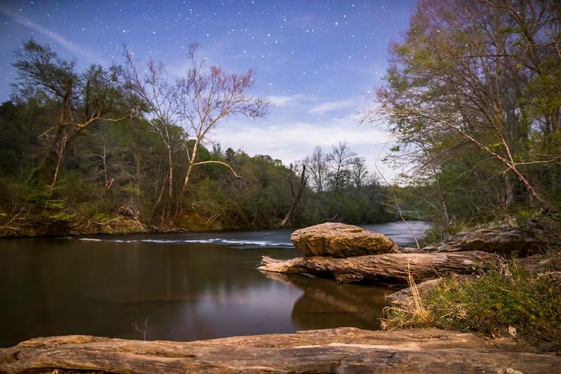 Stars over the Dan River