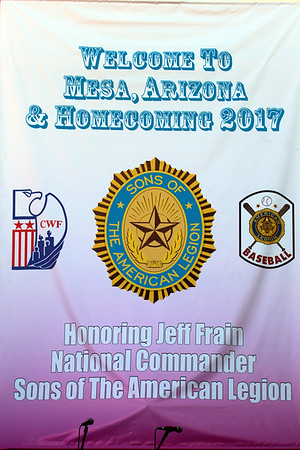 """FEB. - SONS OF THE LEGION NATIONAL CMDR. FRAIN """"HOMECOMING"""""""