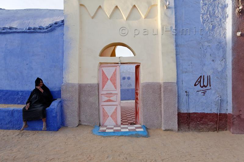 [Egypt 29648] 'Gate in the Nubian Village of Nagaa Al Hamdelab.'