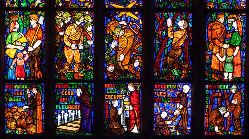 Etrapagny, Saint-Gervais-Saint-Protais World War II Commemoration Window - The Beatitudes