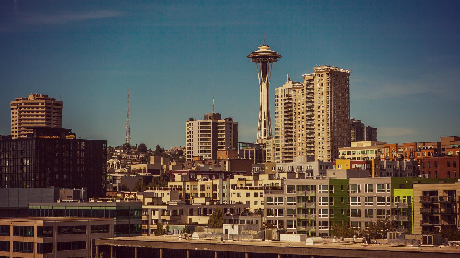 美國西雅圖,全景名片