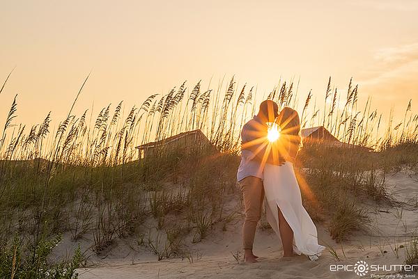 Lauren and Maxx, Engagement Portraits, Cape Hatteras,