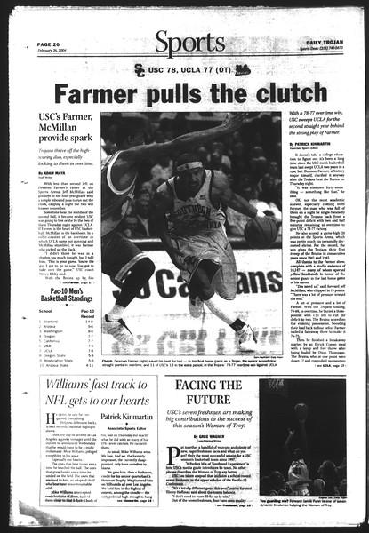Daily Trojan, Vol. 151, No. 29, February 26, 2004