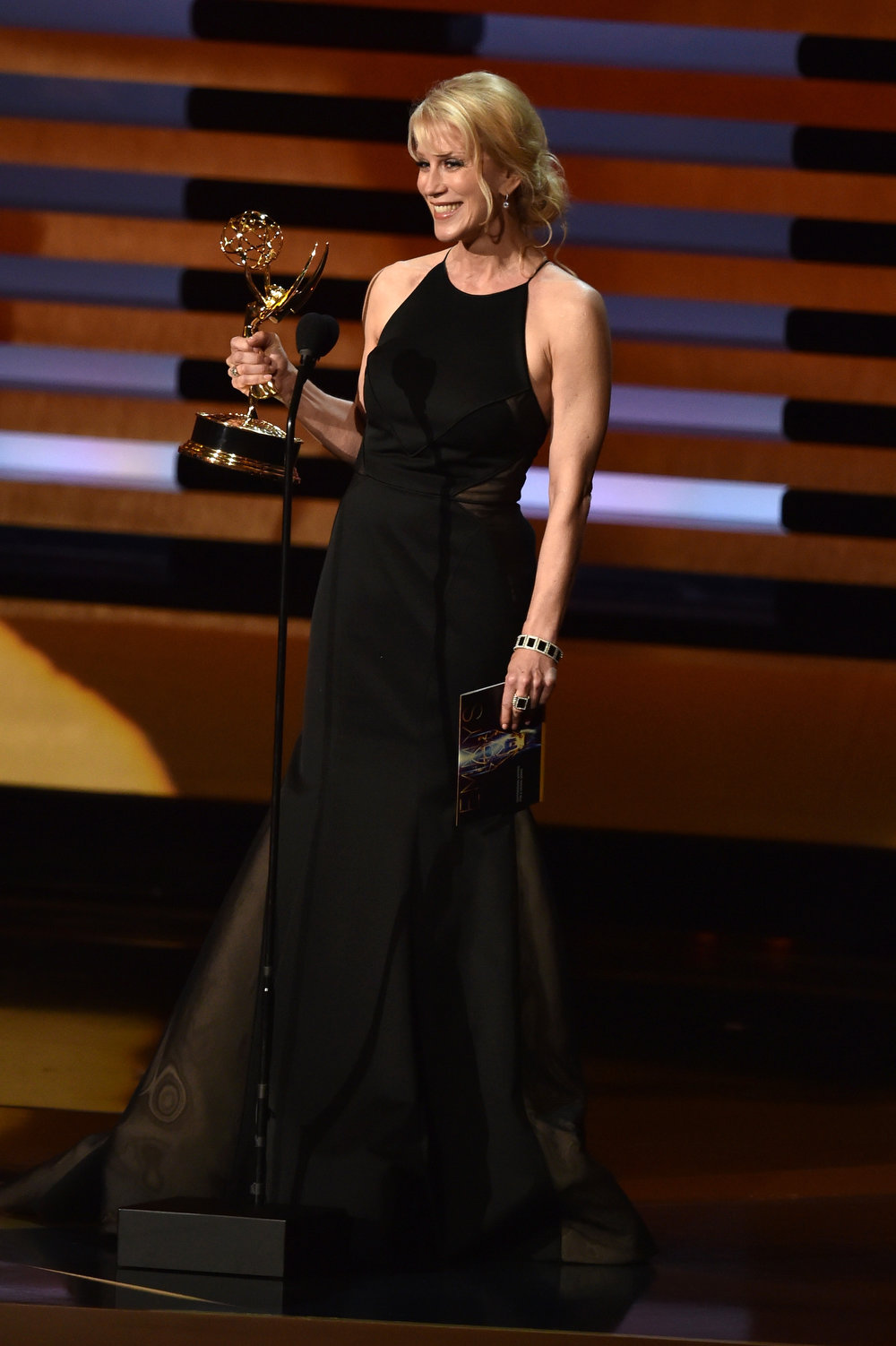 . Writer Moira Walley-Beckett accepts Outstanding Writing for a Drama Series for the \'Breaking Bad\' episode \'Ozymandias\' onstage at the 66th Annual Primetime Emmy Awards held at Nokia Theatre L.A. Live on August 25, 2014 in Los Angeles, California.  (Photo by Kevin Winter/Getty Images)