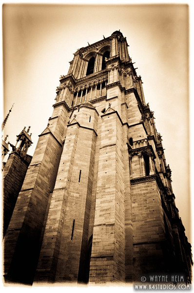 Tower of Notre Dame      Photography by Wayne Heim