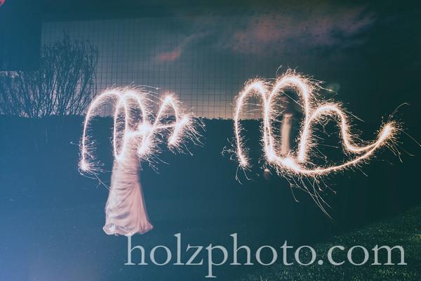Morgan & Matt Creative Wedding Photos