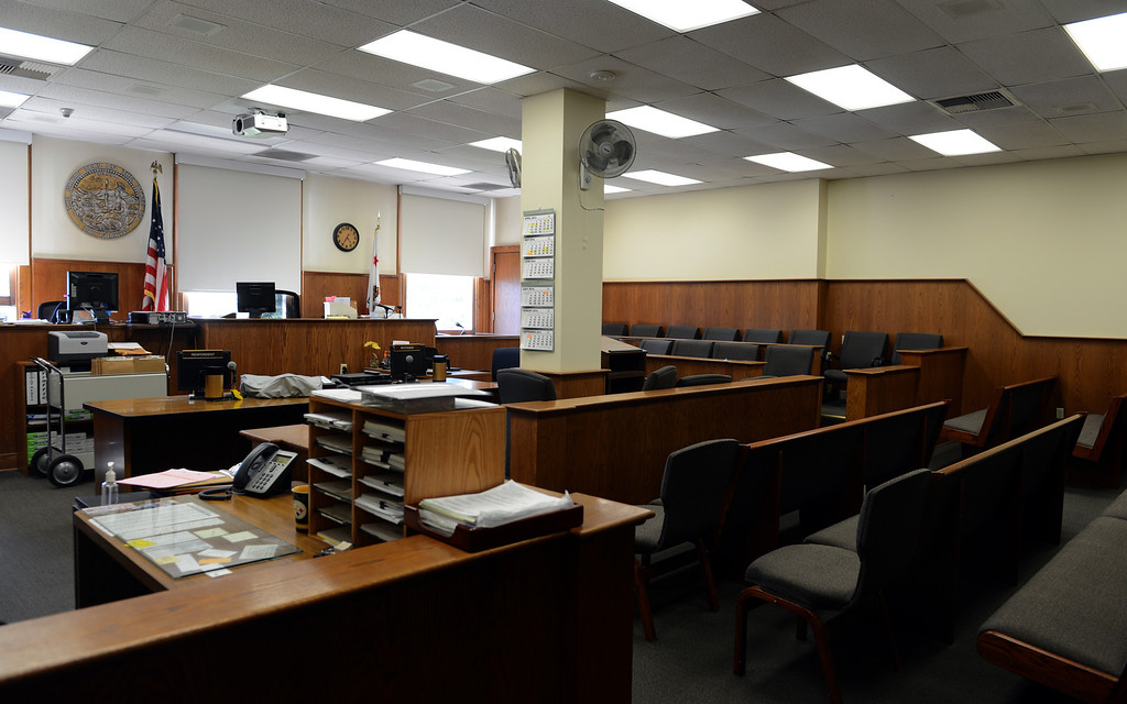 . An old courtroom in the historic San Bernardino Superior Courthouse in downtown San Bernardino, CA, Monday, April 28, 2014. (Photo by Jennifer Cappuccio Maher/Inland Valley Daily Bulletin)
