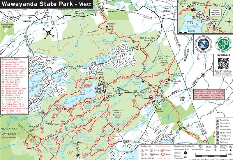 Wawayanda State Park (Trail Map - West)