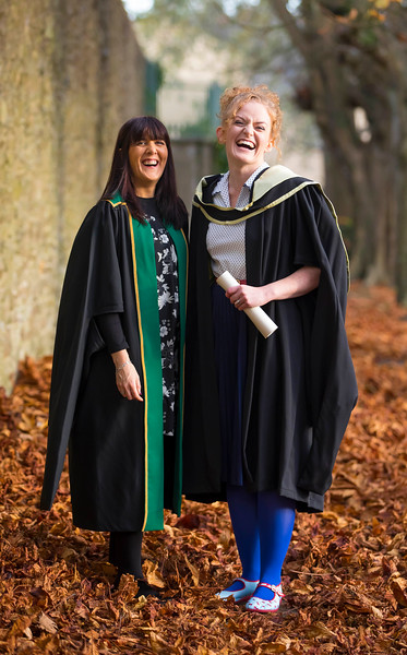 02/11/2016. Waterford Institute of Technology (WIT) Conferring Ceremonies November 2016:  Pictured is Laura Keane, Head Of Student Life and Learning WIT with Aishling O'Toole from Carlow who graduated with an MA in Teaching and Learning in Further and Higher Education. Picture: Patrick Browne