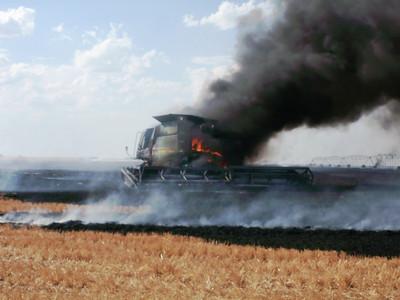 Perryton, Texas FD Combine Fire