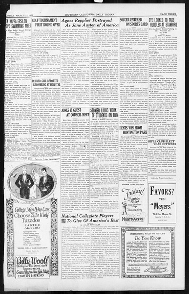 Daily Trojan, Vol. 16, No. 73, March 23, 1925