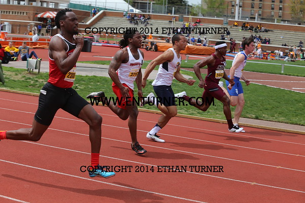 2015 Tennessee Relays - 100M Hurdles and 100M