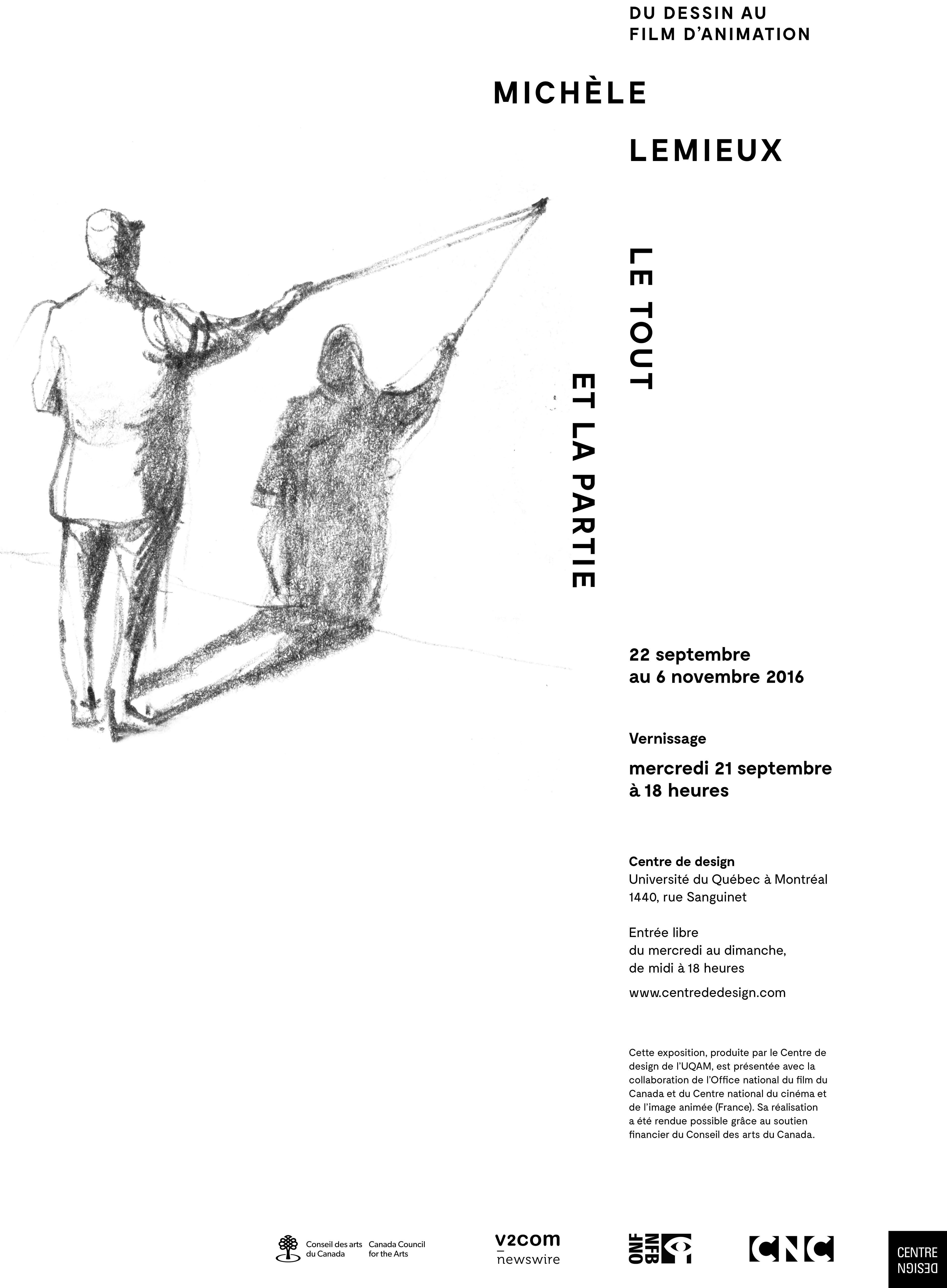 2016 - Exposition - Le tout et la partie Michèle Lemieux du dessin au film d'animation_ Version A
