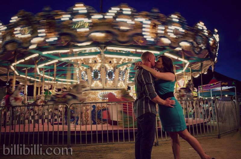 Vintage Carnival Engagement Photography - NWA - Tulsa