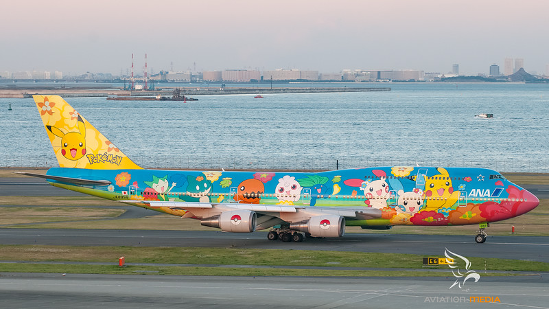 ANA - All Nippon Airways Boeing B747-400 JA8956 (Pokemon livery)