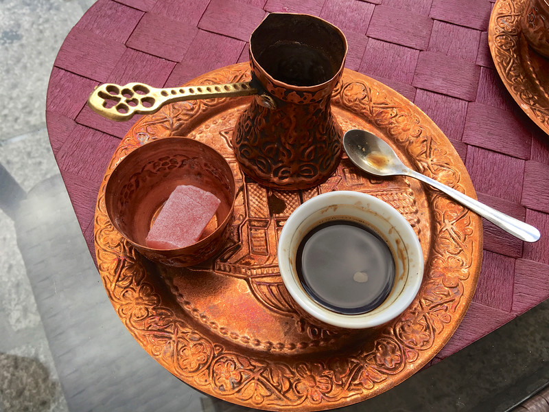 Traditional Bosnian coffee in the Old Town — Sarajevo Old Town Baščaršija