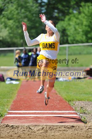 Girls' Long Jump - 2013 Oakland County Track Meet