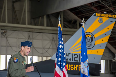 80th Fighter Squadron Change of Command, June 18, 2021