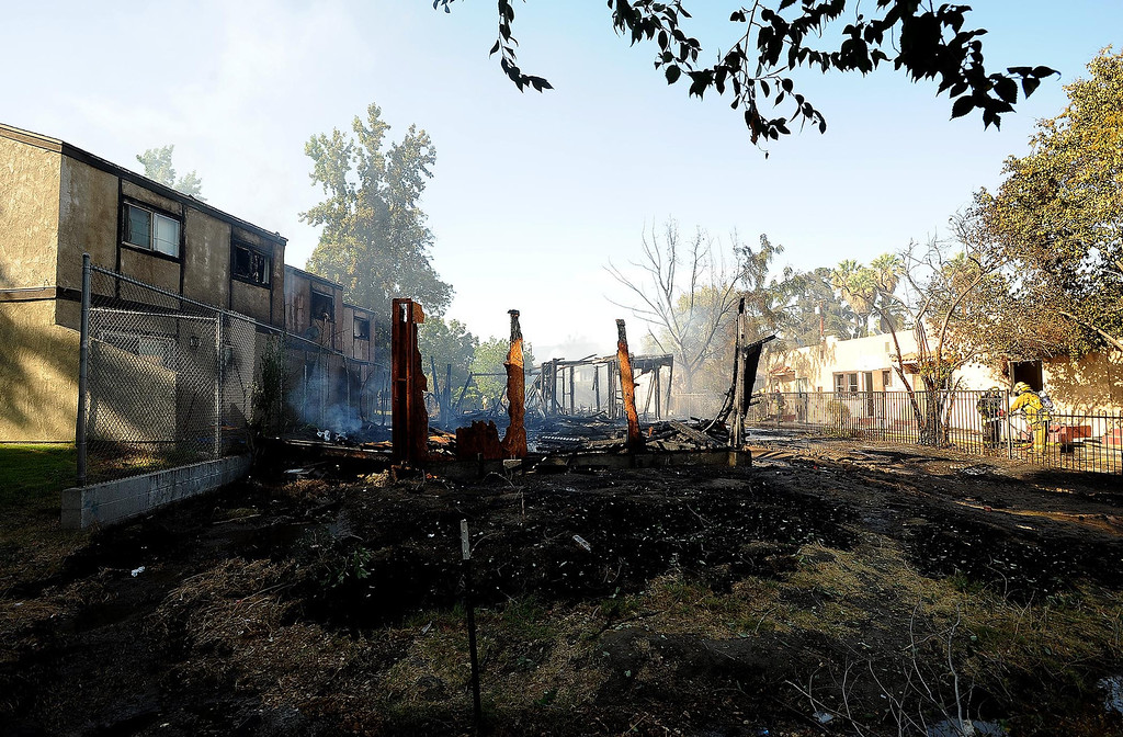. A view of a vacant home that was destroyed by a four-alarm fire along the 700 block of Seventh Street in San Bernardino August 18, 2013. GABRIEL LUIS ACOSTA/STAFF PHOTOGRAPHER.
