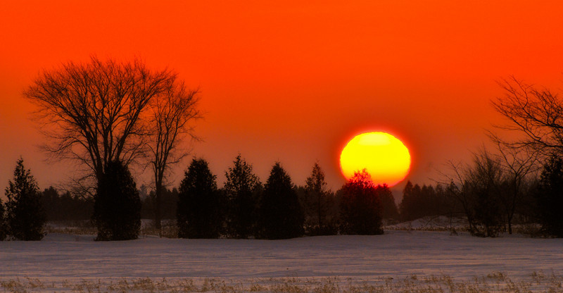 Good Morning - This was the best sunrise in week, the cold morning made some screen and the sun showed up spectacular. I know there are tons of those but these a nice to capture anytime! Especially when waking up at 6h30am on a Sunday, drive, freeze and walk in the snow. Cheers JY