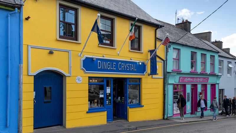Fa�ade of shops, Dingle, Dingle Peninsula, County Kerry, Republic of Ireland