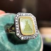 'Faithful & Firm' Yellow Chalcedony Ring, by Seal & Scribe 24