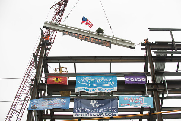 Beam placement at Royal Oak medical center