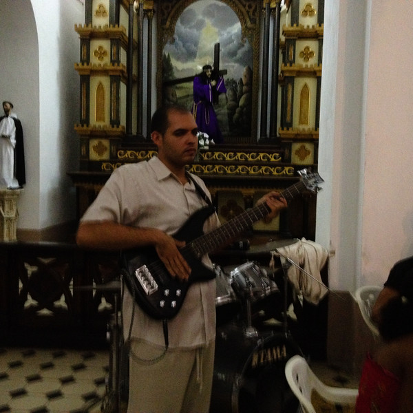 Electric guitar - during church service