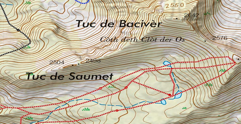 Ejemplo de mapa de curvas con sombreado